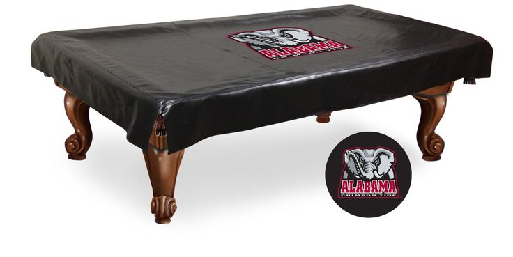 The Alabama Crimson Tide Pool Table Cover is made with the finest commercial grade vinyl and screen print process to give you the most detailed logo possible.