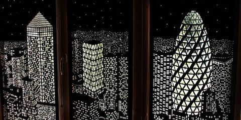 Blackout City Curtains - HoleWall City Shades