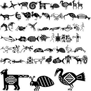Native American Animal Symbol Early pacific nw <b>native american symbols</b>  creative-drawing <b></b>