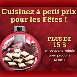 Plus de 15 $ de coupons Kraft.   http://rienquedugratuit.ca/coupons/plus-de-15-de-coupons-kraft/
