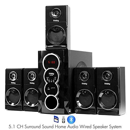 Special Offers - Frisby FS-5070BT 5.1 Surround Sound Home Theater Speakers System with Bluetooth USB/SD and Remote - In stock & Free Shipping. You can save more money! Check It (July 11 2016 at 06:21AM) >> http://caraudiosysusa.net/frisby-fs-5070bt-5-1-surround-sound-home-theater-speakers-system-with-bluetooth-usbsd-and-remote/