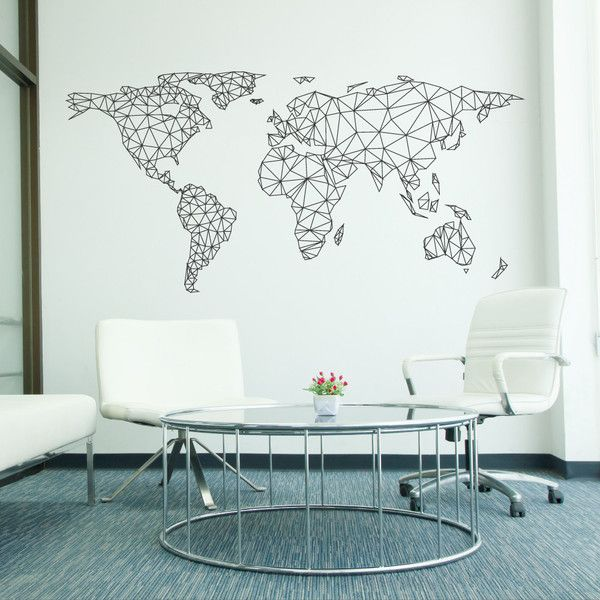 Best 25 world map wall decal ideas on pinterest world map decal network world map wall decal gumiabroncs Image collections