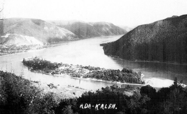 Ada Kaleh island, flooded between 1968-1970 by the construction of the hydroelectric power plant.