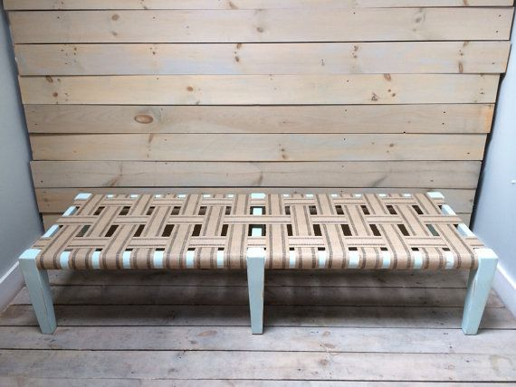 Daybed Light Blue Distressed With Jute Webbing By Chezboheme, $895.00