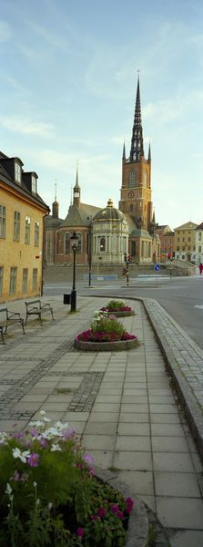 'Spire of a church, Riddarholm Church, Riddarholmen, Stockholm, Sweden' by Panoramic Images on artflakes.com