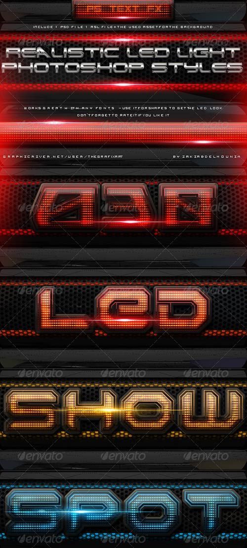 Download Free Led Light Photoshop Layer Styles under the free Other PSD…