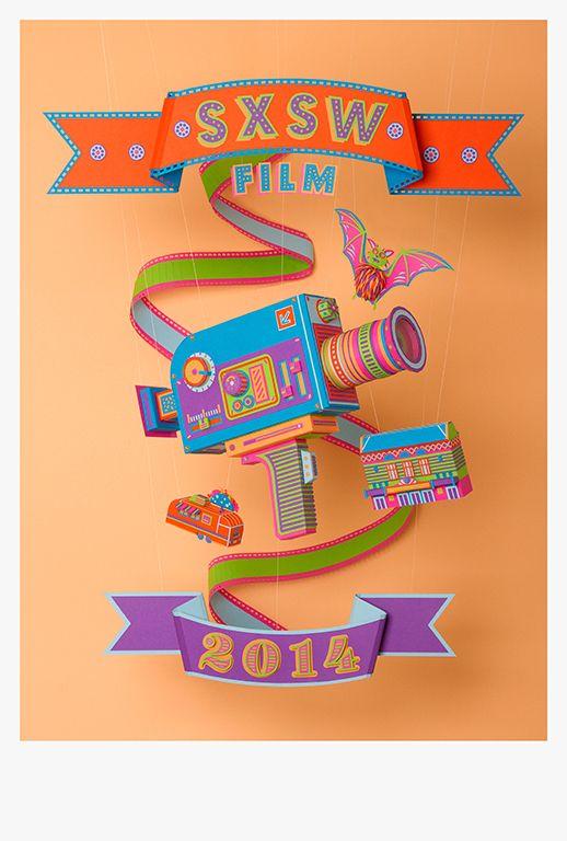 SXSW Film Festival; cool posters; poster design Zim & Zou
