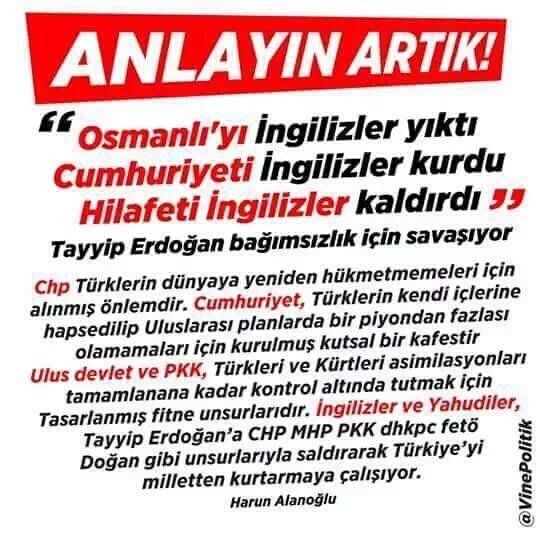 (227) Twitter MHP parti başkanı Devlet Bahçeli çok iyi biri . Onun dışında her yer hain kaynıyor adam haklı.