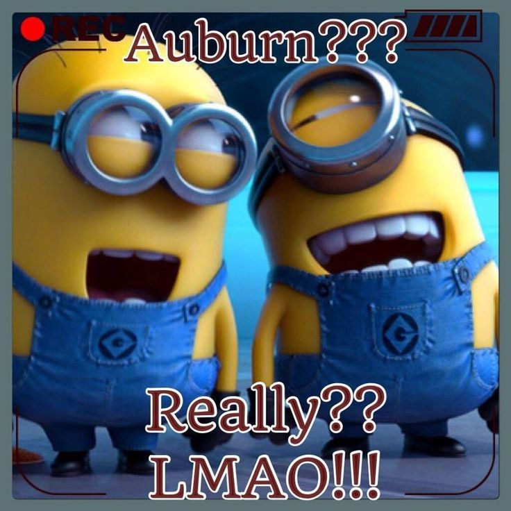 cool Alabama Crimson Tide vs Auburn Minions...