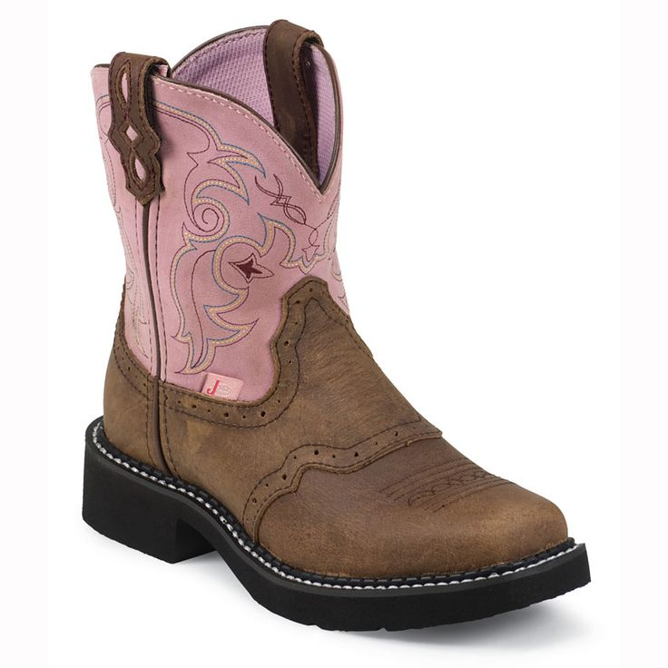 She can match my work boots in these Justin Gypsy Kid's Western Boots