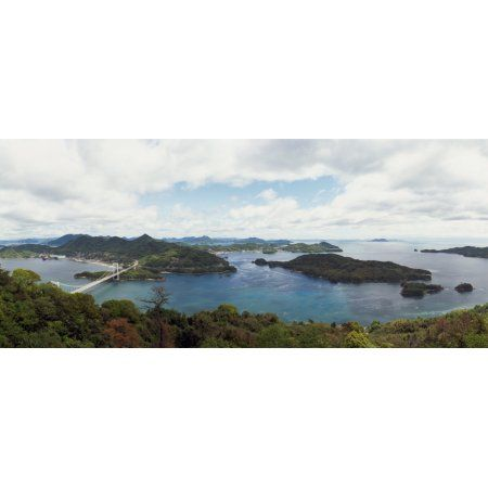 Mt Karei Lookout Park view from mountain Imabari Ehime Prefecture Japan Canvas Art - Panoramic Images (36 x 12)