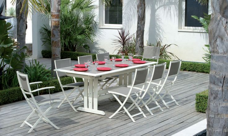 Sedia da giardino / moderna / in metallo / pieghevole HEGOA by Claude Robin   LES JARDINS