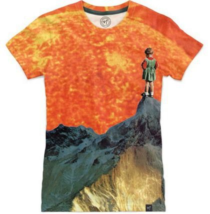 'golden girl' all-over print t-shirt at Nuvango - collage art by livingferal