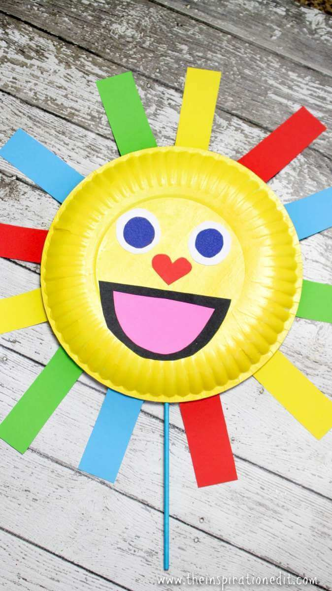 Summer Sun Paper Plate Craft Puppet Projects To Try Paper Plate