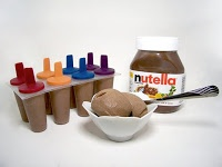 Rumkihn Crafts: Nutella Ice Cream - can use almond butter. Calorie count based on 16 portions 1/3c each.
