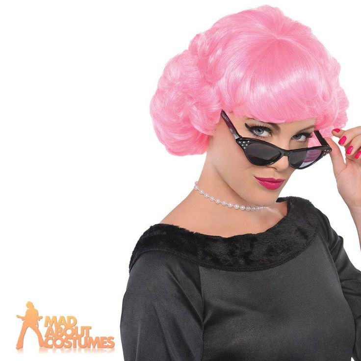 Adult Frenchy Wig Grease 1950s Frenchie Pink Ladies Fancy Dress Accessory New | eBay
