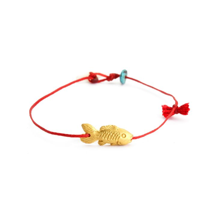 gold plain fish bracelet