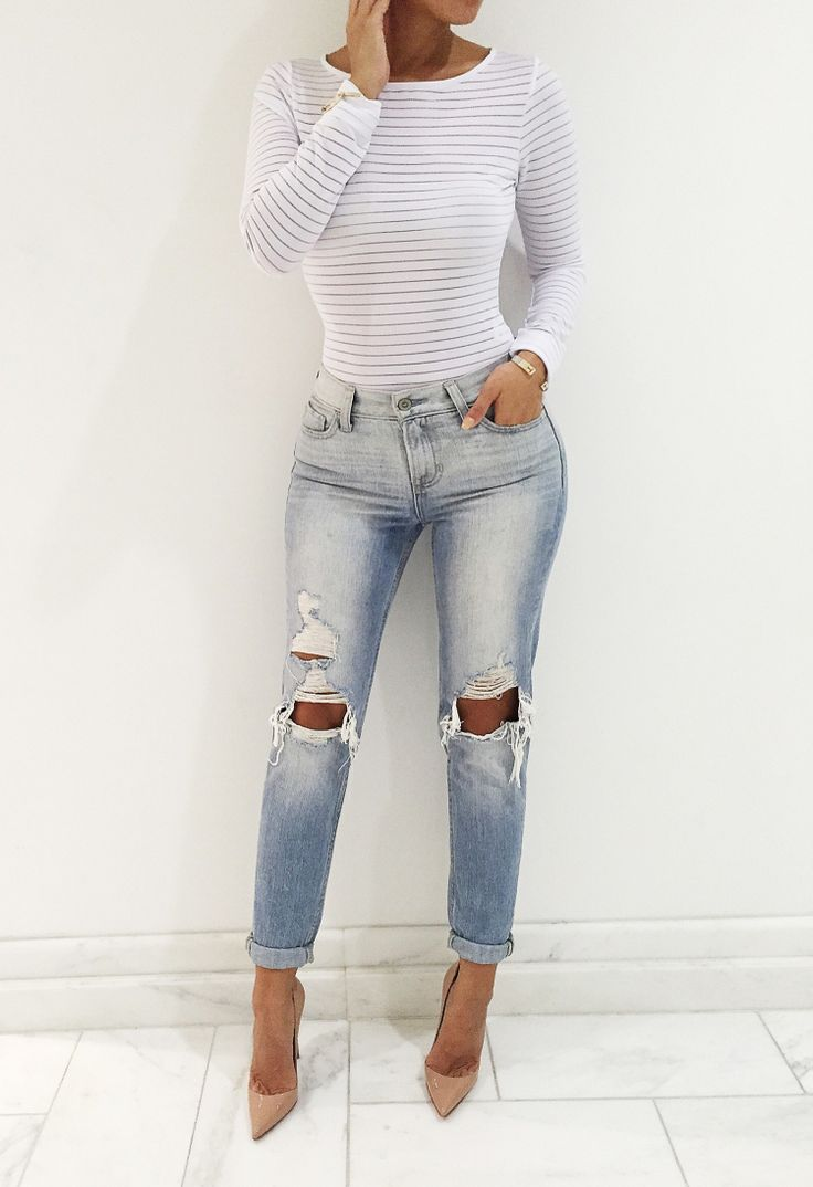 "WHITE 'Perfectly Meshed"" Bodysuit"