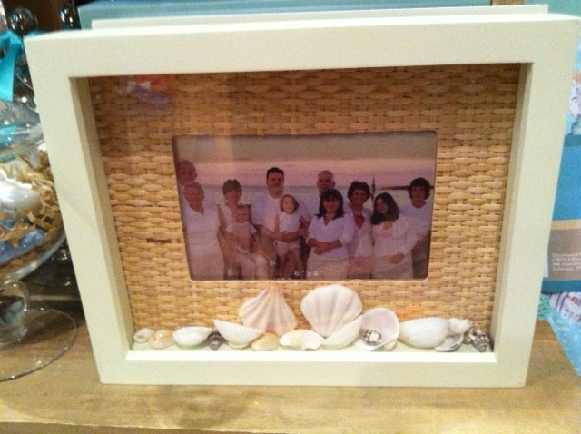 Will use a shadow box frame to display a photo from our honeymoon along with the beach shells we brought home with us. I couldn't figure out a good way to have the shells out -- this is a great way to do it!
