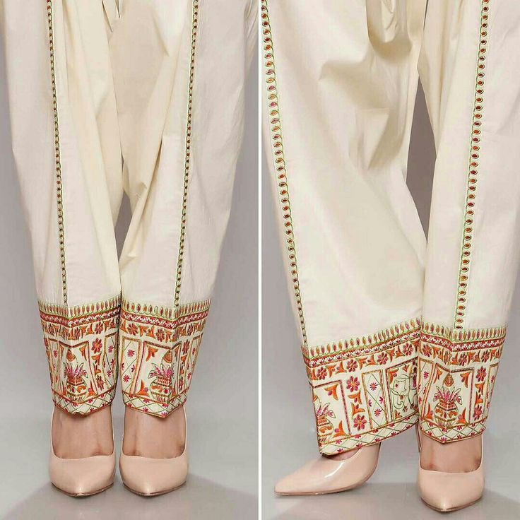 Embroidered salwar by Chinyere Pk