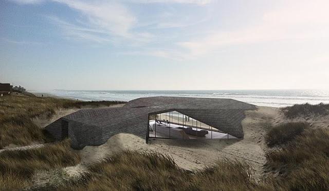 Building in sand dunes