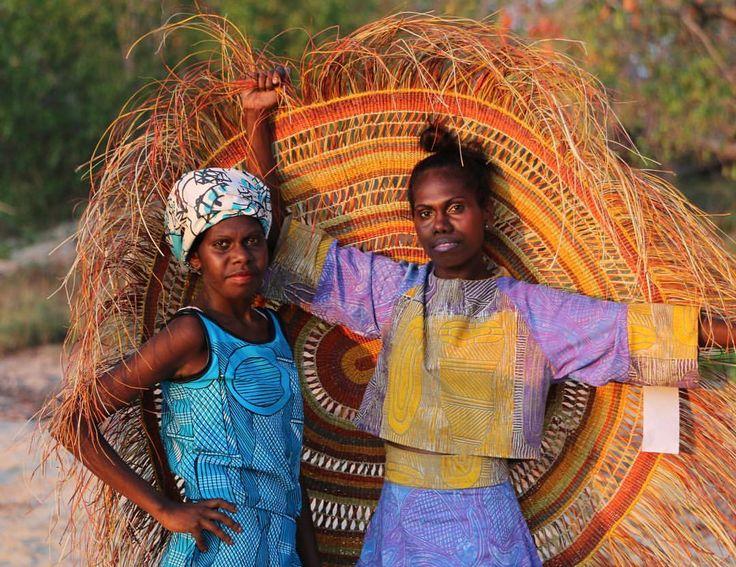 "387 Likes, 20 Comments - Babbarra Designs (@babbarradesigns) on Instagram: ""Maningrida women Marita Wilson and Janine Watson, styling up in Bábbarra designs on our Arnhem Land…"""