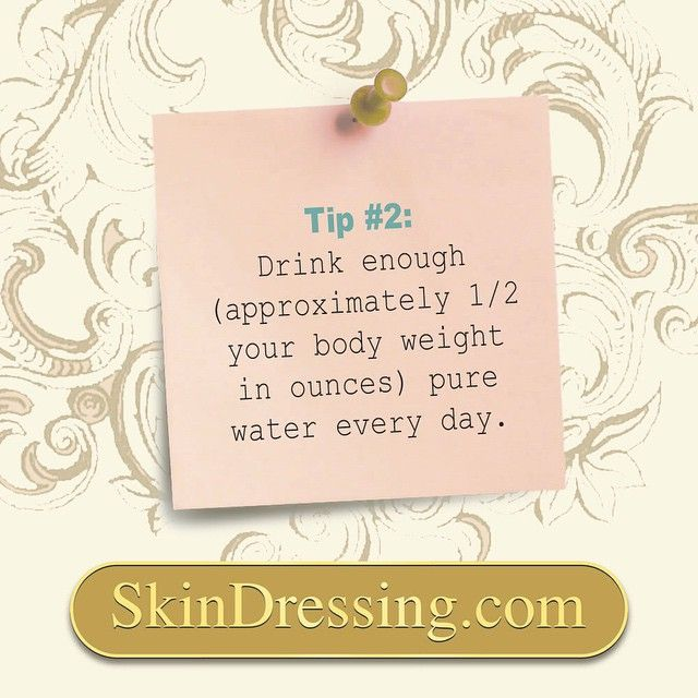 Starting with a little fresh lemon juice in warm water every morning. Water aids in digestion and excretion, therefore drinking enough each day will help rid the body (and skin) of toxins. If your body is dehydrated, your skin can become dry, tight and flaky. Avoiding beverages that contain caffeine and alcohol is also helpful, as they are dehydrating to the body. | #organicbeauty #organicskincare