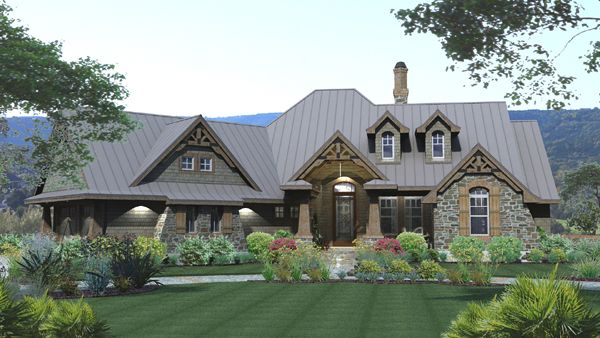 """""""Mountain of Grace"""" 2000 sq ft 3br/2ba. A little frilly with the timberframe elements."""