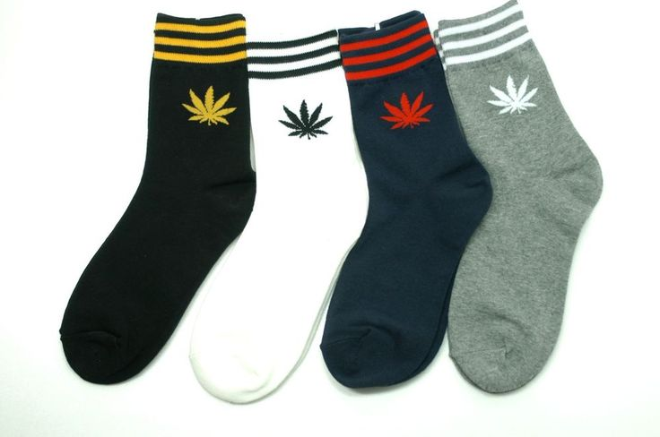 Marijuana Socks 4 Pair Color Weed Leaf Plant Life Sport Cotton Casual Fashion #GGORANGNAE #Casual #CharacterSocks #women #Kid #Girl #Lady #Funny #Novelty #Pattern