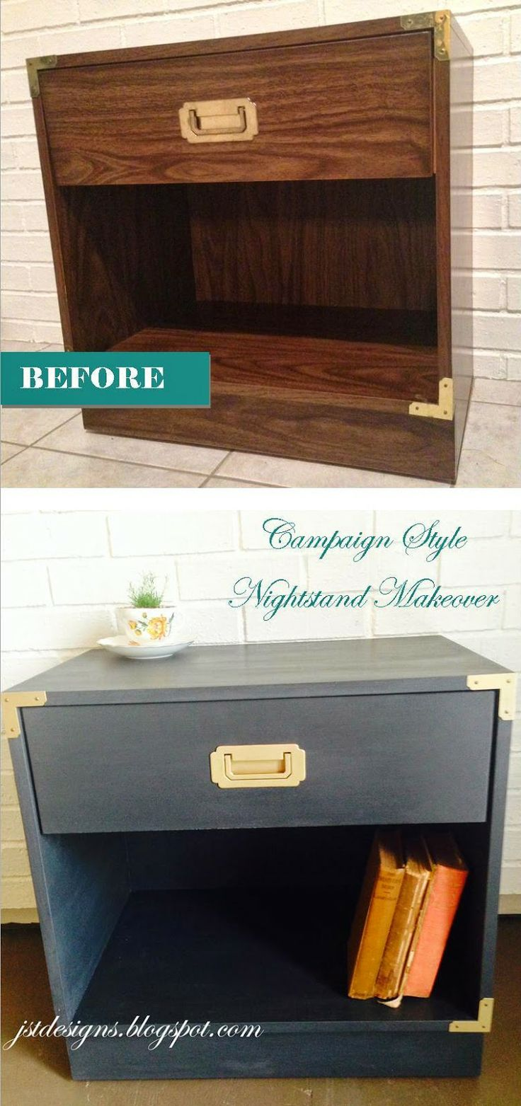 Campaign Style Nightstand Makeoever