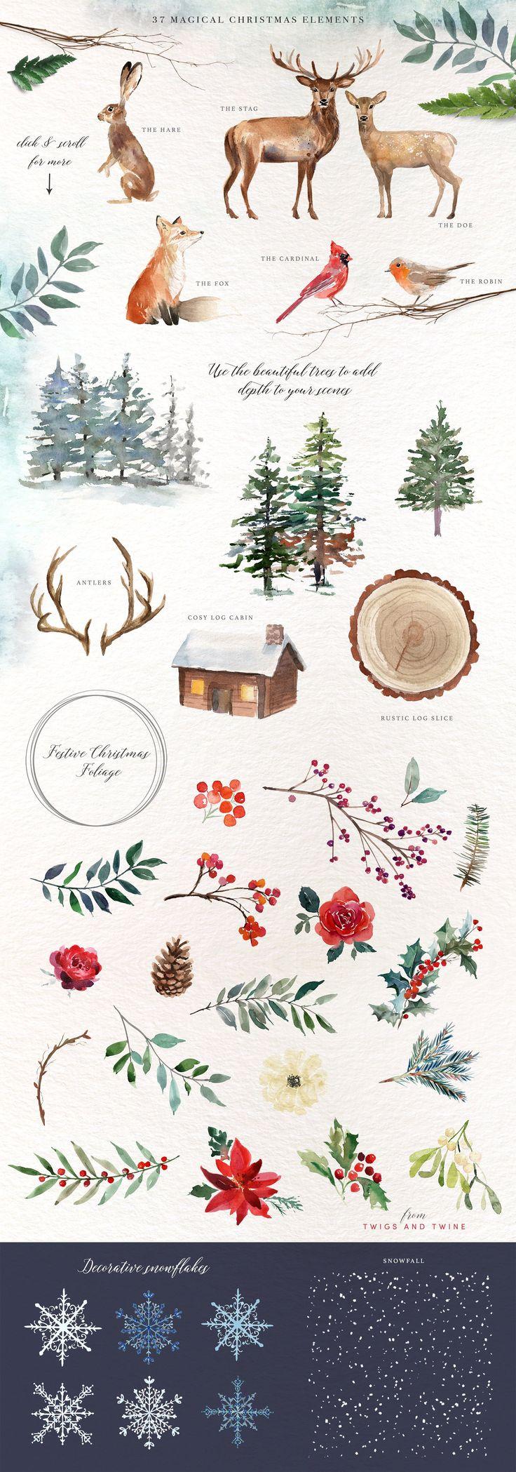 A Woodland Christmas – Graphic set