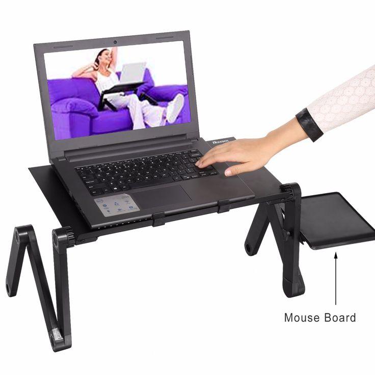 Homdox Ajustable Portátil Notebook PC de Escritorio Del Ordenador Portátil Plegable Mesa De Ventilación Soporte Bandeja De La Cama