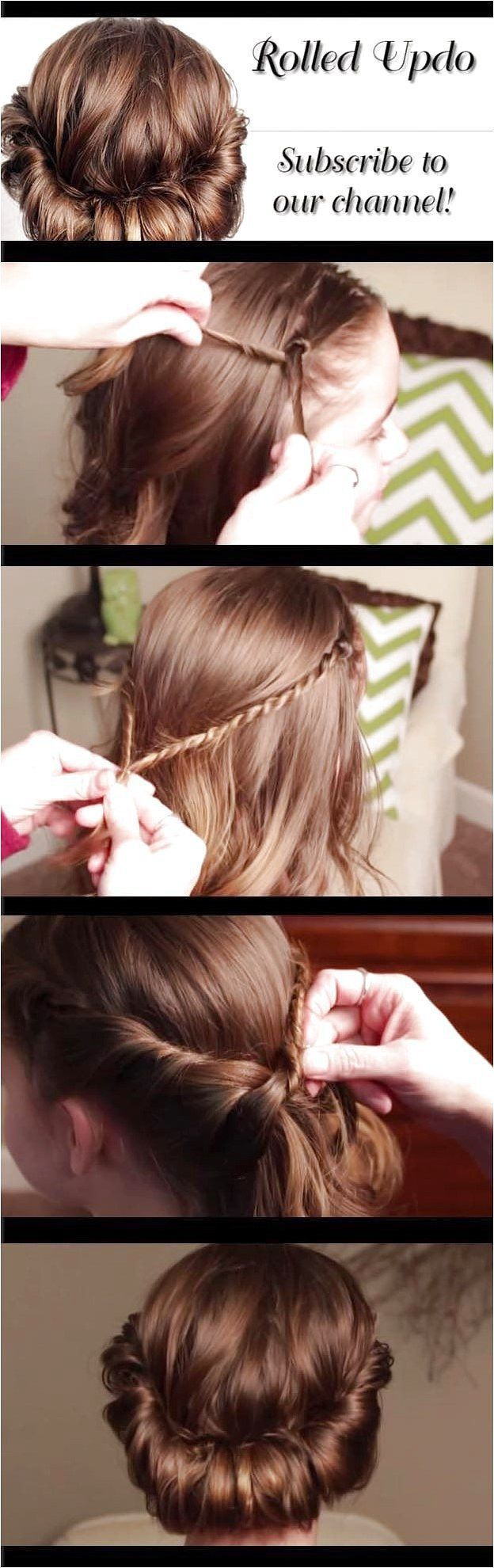 Quick and Easy Hairstyles for Straight Hair – How To Rolled Updo Pretty Hair is … , #Easy …
