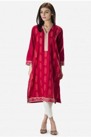 Embroidered long kurta Now available in stores and online. Shop online: www.khaadi.com