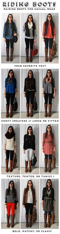 how to wear boots--- with exception of the boots with dresses... NOT a fan of that ..... unless your 20 something :)