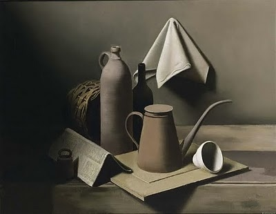Magic Realism Painting by Belgian Artist Raoul Hynckes