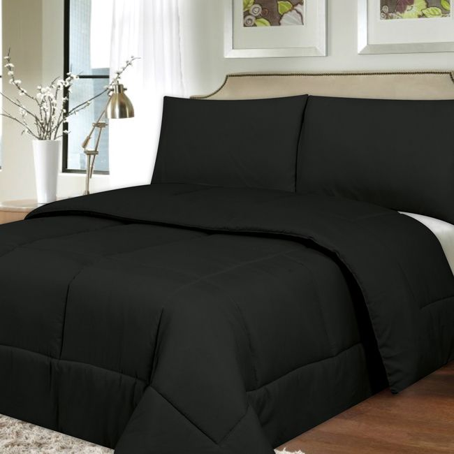 This incredibly soft and durable comforter is filled with polyfiber for warmth that will last through many washings. Available in a wide variety of colors, you will be able to match the comforter to a