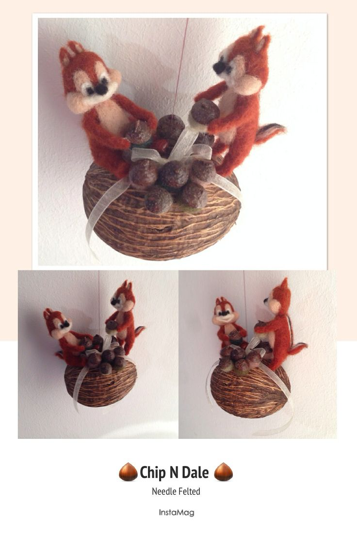 Needle Felted Chip N Dale