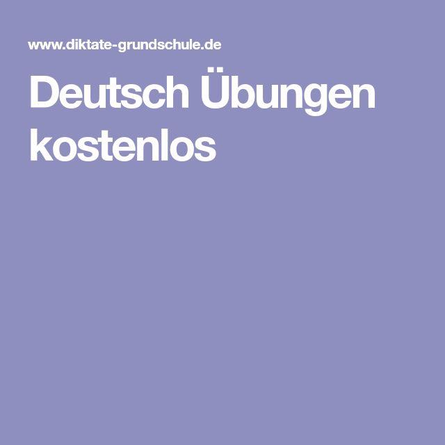 Deutsch Übungen kostenlos