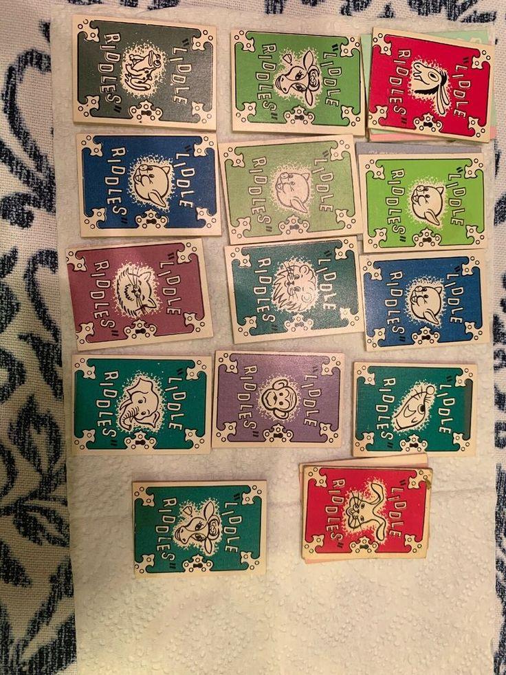 1968 Cracker Jack Liddle Riddles book Set Cracker jacks