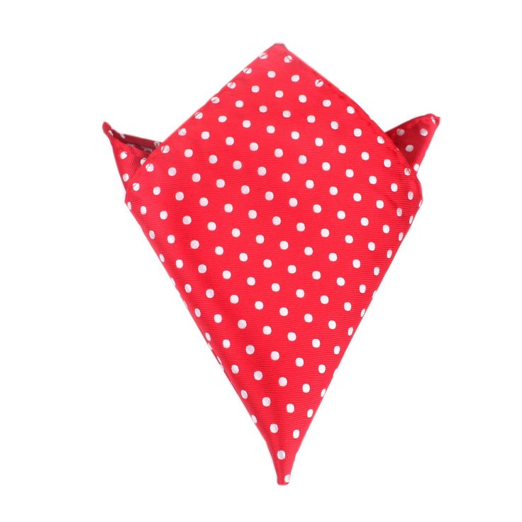 Royal Red Polka Dots Pocket Square by OTAA | Suit Handkerchief & Men's Pocket Squares  | Online Ties and Accessories  Australia | www.otaa.com.au | OTAA