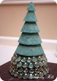 Alderberry Hill: Glass Christmas Trees