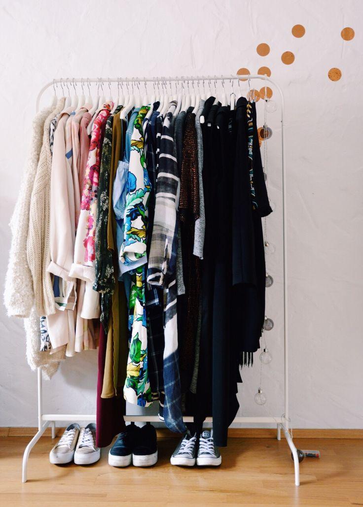 Kleiderstange & Kupfer-Konfetti #interior #wardrobe #kleiderschrank #closet #copper #homeinspo