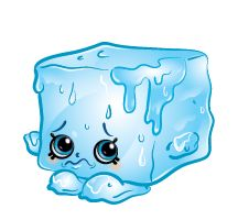 Cool Cube (Shopkins 1-124, 1-132) Cool Cube is a melting green ice cube. His…