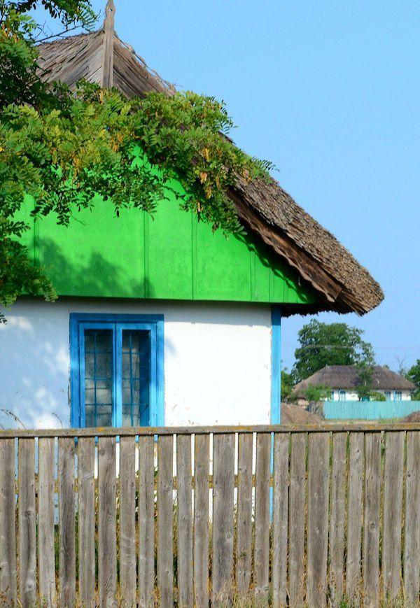 Casa traditionala in Delta Dunarii, #Colorful #Facade #DanubeDelta, #Fishermen'sVillage