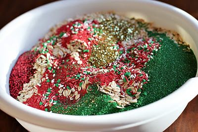 """This was a holiday tradition at our house when our girls were little. Reindeer Food. Oatmeal, Christmas colored sugar, Christmas sprinkles & Glitter. (This recipe is a little fancier because we just used oatmeal and glitter.) This Includes FREE Printable Reindeer Food Magical Reindeer Food Instructions: """"Sprinkle on the lawn at night, The moon will make it sparkle bright, As Santa's reindeer fly and roam, This will guide them to your home."""""""