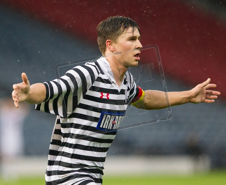 Queen's Park's Sean Burns celebrates his goal during the Betfred Cup game between Queen's Park and Airdrieonians.