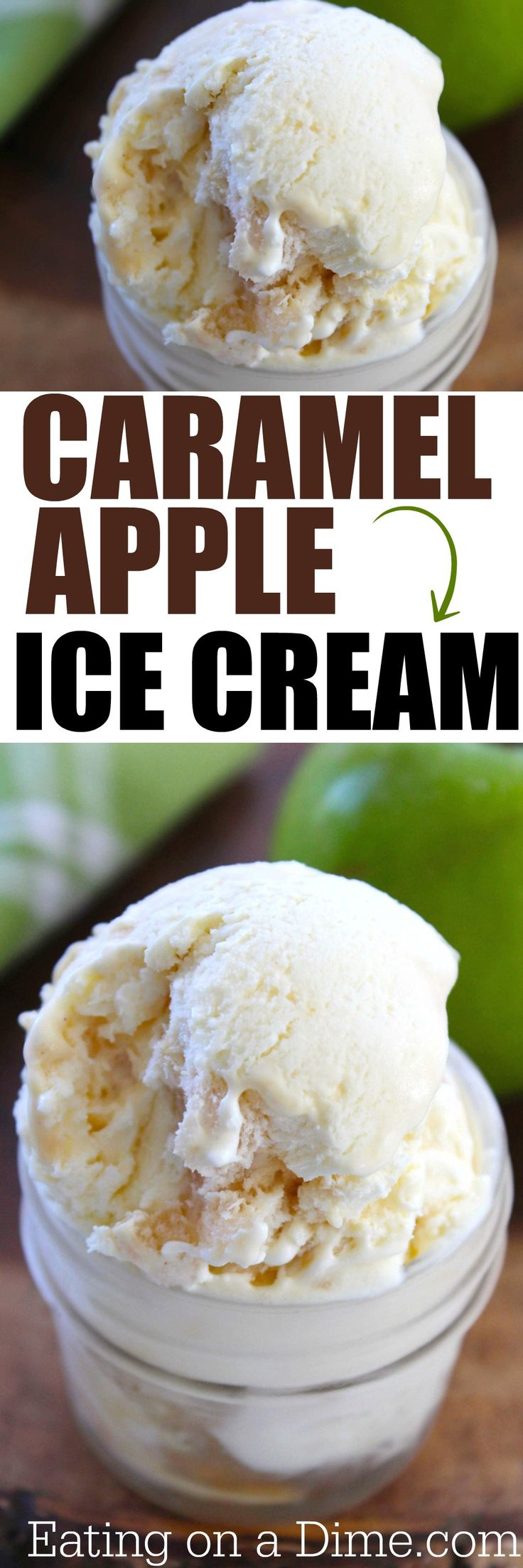 caramel apple ice cream recipe.  There is nothing better on a hot day then to enjoy some fresh homemade ice cream! I have a fun new recipe to share with you today that would be perfect for one of those hot days – Caramel Apple Ice Cream. Only 4 ingredients!