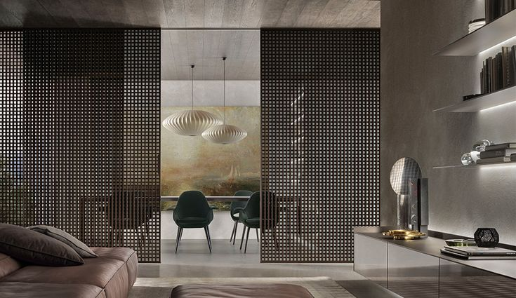 Rimadesio's Daimon sliding panels were inspired by traditional Japanese partitions | azuremagazine.com