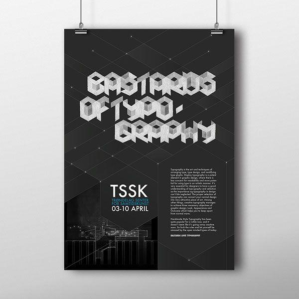 BASTARDS OF TYPOGRAPHY by Lisa Gjønnes, via Behance